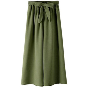 Chic Boutique Clothing Pants Dark Green / One Size / United States Casual Loose Wide Leg Pants 26841559-dark-green-one-size-united-states