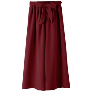 Chic Boutique Clothing Pants Burgundy / One Size / United States Casual Loose Wide Leg Pants 26841559-burgundy-one-size-united-states