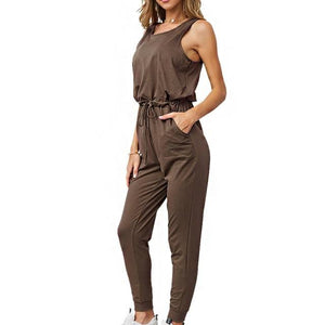 Chic Boutique Clothing Jumpsuits & Rompers Coffee / L / China Super Comfy Sleeveless Jumpsuit 25904434-coffee-l-china