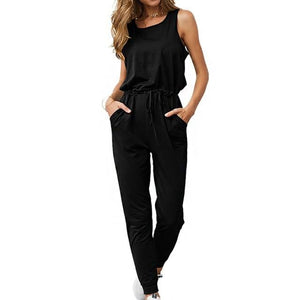 Chic Boutique Clothing Jumpsuits & Rompers Black / L / China Super Comfy Sleeveless Jumpsuit 25904434-black-l-china