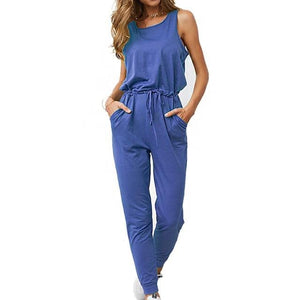 Chic Boutique Clothing Jumpsuits & Rompers Blue / L / China Super Comfy Sleeveless Jumpsuit 25904434-blue-l-china