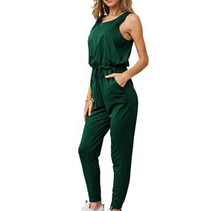 Chic Boutique Clothing Jumpsuits & Rompers Dark Green / L / China Super Comfy Sleeveless Jumpsuit 25904434-dark-green-l-china