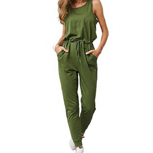 Chic Boutique Clothing Jumpsuits & Rompers Army green / L / China Super Comfy Sleeveless Jumpsuit 25904434-army-green-l-china