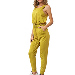 Chic Boutique Clothing Jumpsuits & Rompers YELLOW / L / China Super Comfy Sleeveless Jumpsuit 25904434-yellow-l-china
