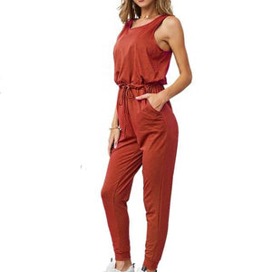Chic Boutique Clothing Jumpsuits & Rompers Orange / L / China Super Comfy Sleeveless Jumpsuit 25904434-orange-l-china