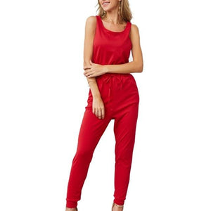 Chic Boutique Clothing Jumpsuits & Rompers Red / L / China Super Comfy Sleeveless Jumpsuit 25904434-red-l-china