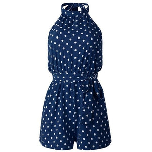 Chic Boutique Clothing Jumpsuits & Rompers DL / L / China Polka Dot Belted Jumpsuit 27098938-dl-l-china