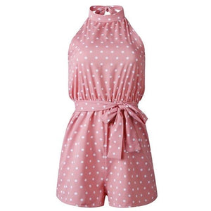 Chic Boutique Clothing Jumpsuits & Rompers P / L / China Polka Dot Belted Jumpsuit 27098938-p-l-china