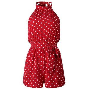 Chic Boutique Clothing Jumpsuits & Rompers R / L / China Polka Dot Belted Jumpsuit 27098938-r-l-china