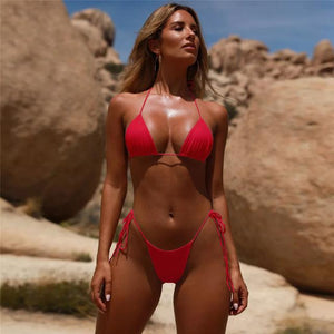Chic Boutique Clothing Swimwear red 2 / L / China 2019 Bikini Suit Women Bequini Swimwear Adjustable Summer Sexy Bathing Push Up Padded Swimsuit Monokini Support Resell 26278706-red-2-l-china