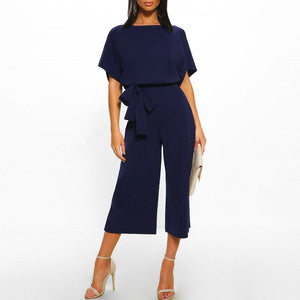 Chic Boutique Clothing Jumpsuits & Rompers Leg Jumpsuit With Belt kombinezon