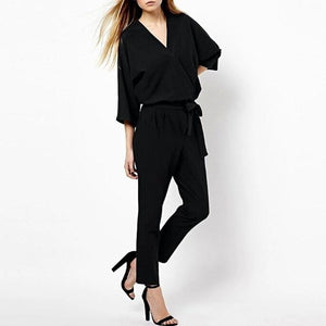 Chic Boutique Clothing Jumpsuits & Rompers B / L / China Casual Style Elegant Ladies Long Romper Overalls 27349017-b-l-china