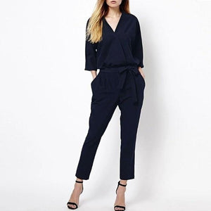 Chic Boutique Clothing Jumpsuits & Rompers L / L / China Casual Style Elegant Ladies Long Romper Overalls 27349017-l-l-china