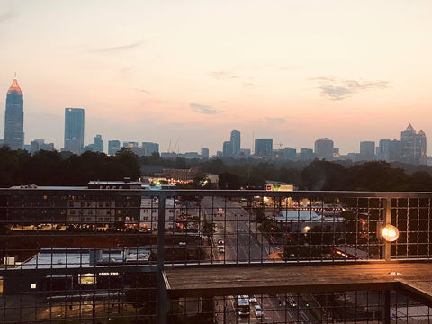 Sunset View from Roof of Ponce City Market