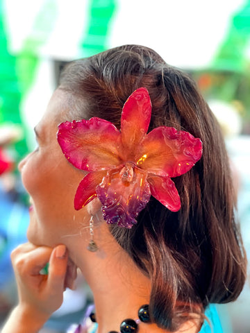 Giant Cattleya Real Orchid Hair Clip