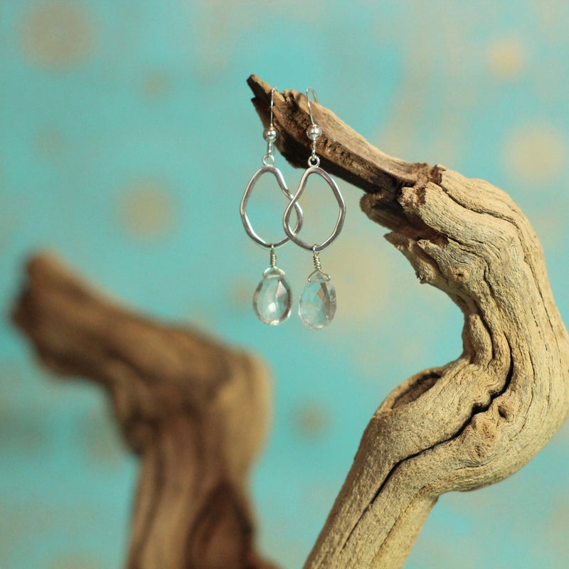Aquamarine Mango Earrings - Devi & Co
