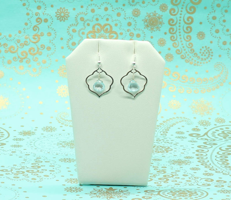 Gemstone Cloud Sterling Silver Earrings - Devi & Co