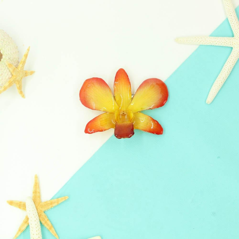 Real Orchid Hair Clip - Devi & Co