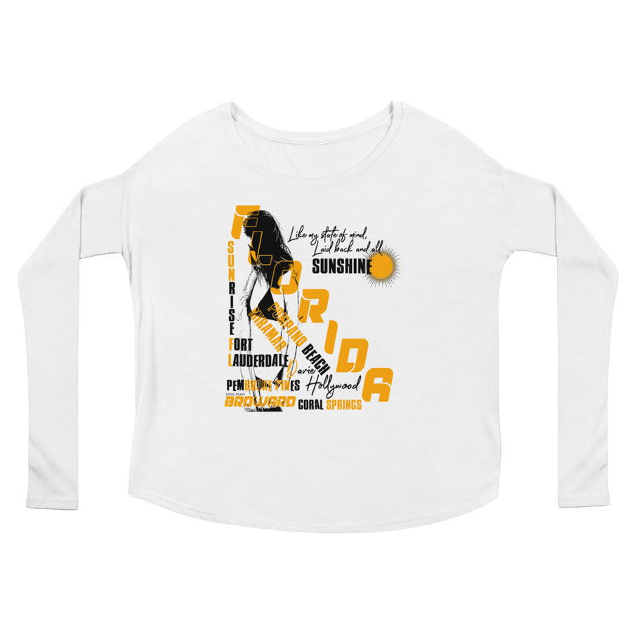 LOCAL FLAVA BROWARD (Women/Flowy Long Sleeve)