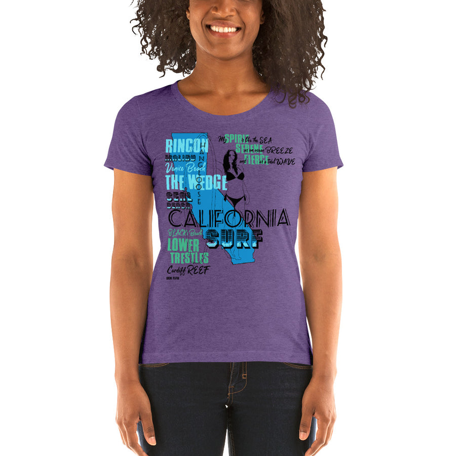 LOCAL FLAVA CALIFORNIA SURF (Women/Crew-Neck)