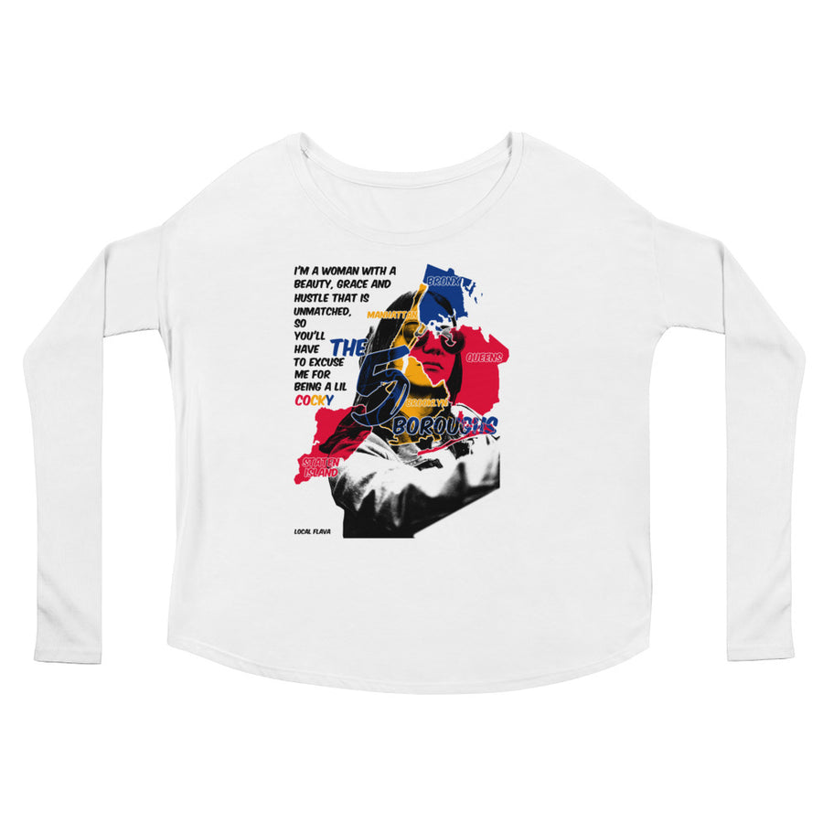 LOCAL FLAVA NYC WOMAN (Women/Flowy Long Sleeve)