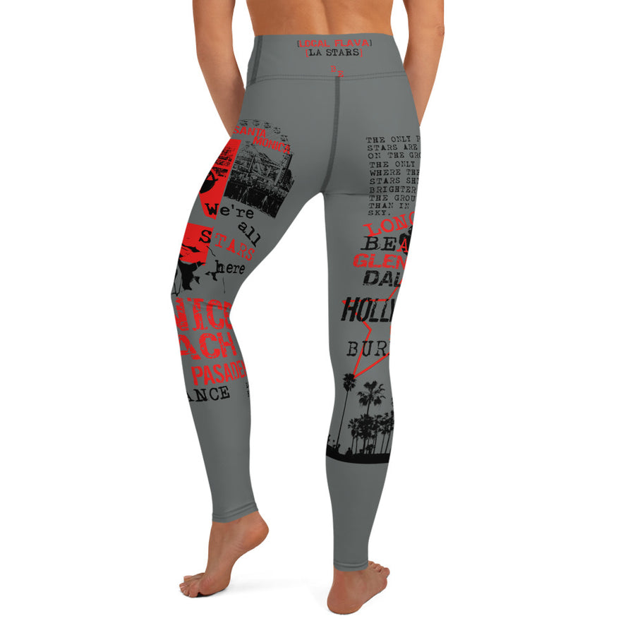 LOCAL FLAVA LA STARS - Yoga Leggings (GREY)