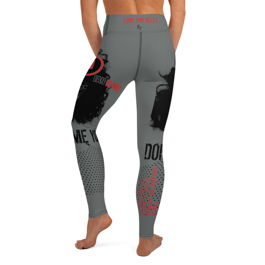 Love Thy Self - Yoga Leggings (GREY)