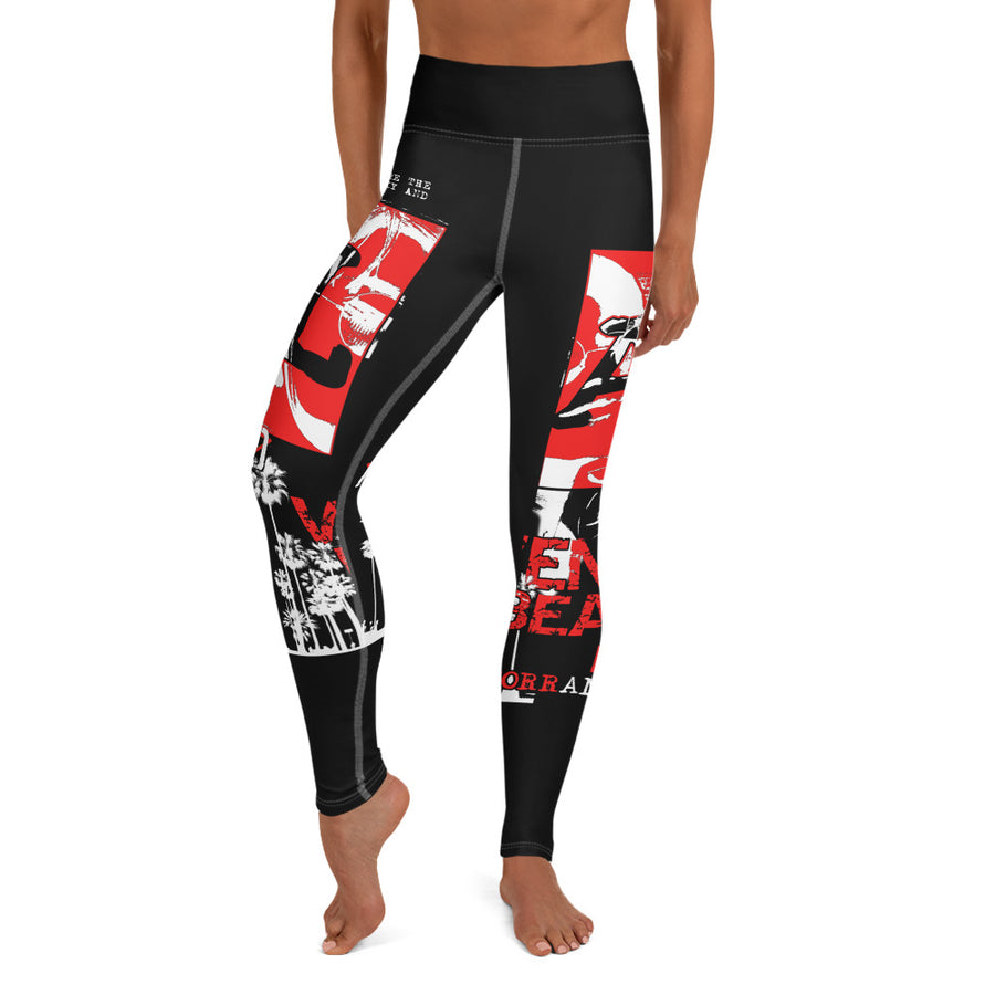 LOCAL FLAVA LA STARS Illuminated - Yoga Leggings (BLACK)
