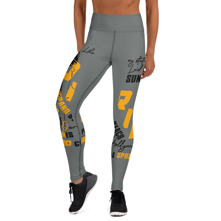 LOCAL FLAVA BROWARD - Yoga Leggings (GREY)