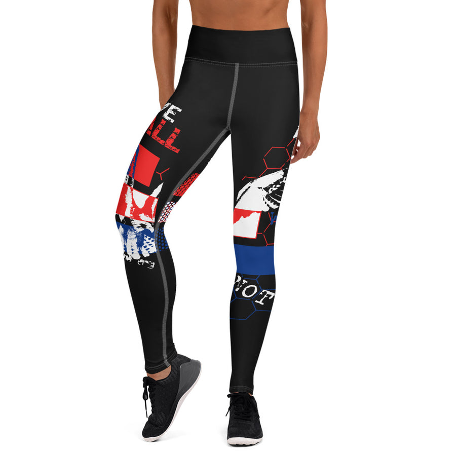 Choose To Fly Illuminated - Yoga Leggings (BLACK)