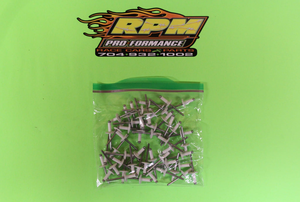 RPM Large Head Rivet (White) - Item #RPM18156