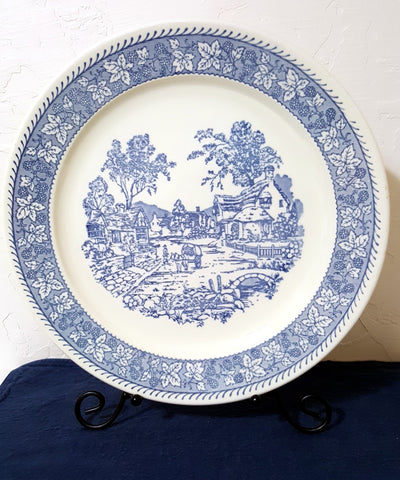 Vintage Blue and White Platter featured at 2aEmporium