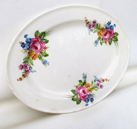 Vintage Edwin M Knowles Platter featured at WhimzyThyme