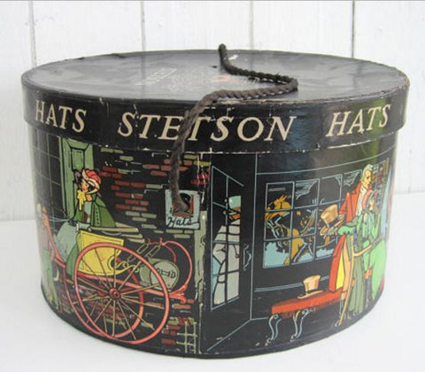 Vintage Stetson Hat Box featured at OldStoneFarmhouse