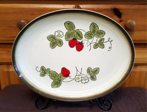 Vintage Strawberry Platter featured at 2aEmporium