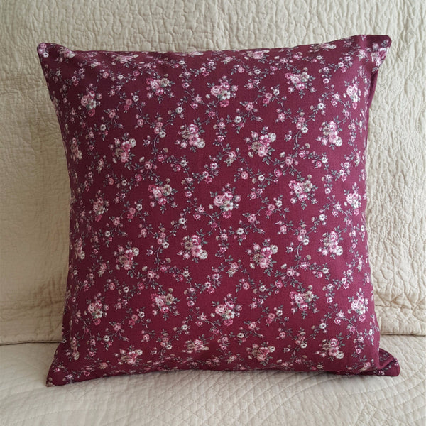 "Handmade Floral Envelope Pillow Cover with Pillow Form, 14"" x 14"" - 2aEmporium"