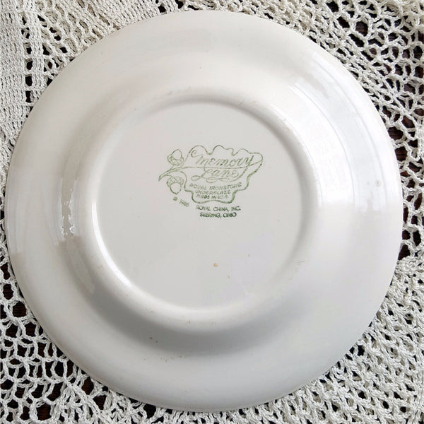 "Memory Lane 10"" Dinner Plate Royal Ironstone by Royal China Co  c. 1966"