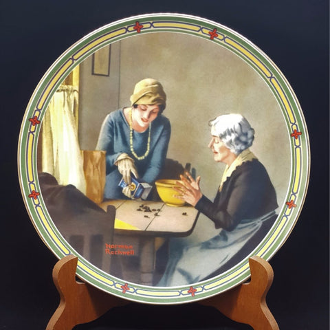 "Norman Rockwell Collectible Plate ""A Family's Full Measure""  c. 1985"