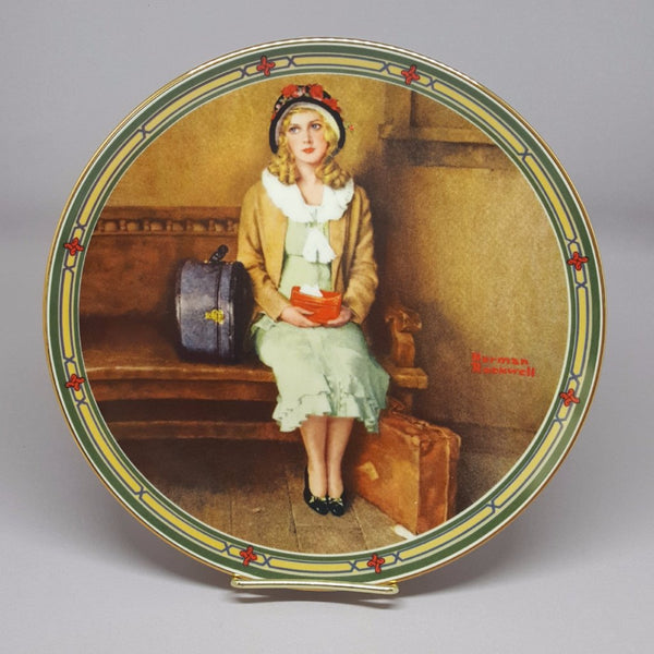 "Norman Rockwell Collectible Plate, ""A Young Girl's Dream""  c. 1985 - 2aEmporium"
