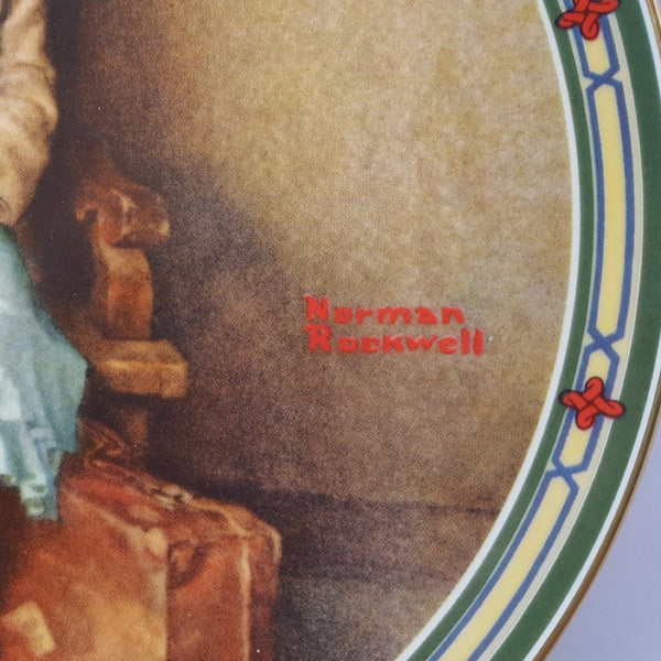"Norman Rockwell Collectible Plate, ""A Young Girl's Dream""  c. 1985"