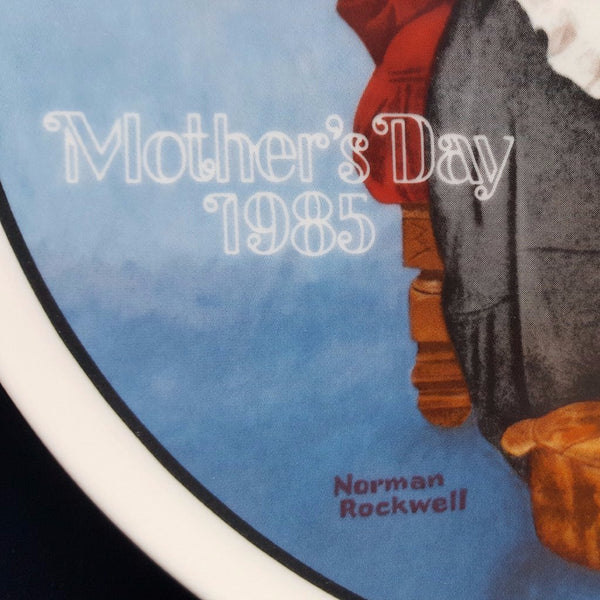 "Norman Rockwell Collectible Plate, ""Mending Time""  c. 1985 - 2aEmporium"