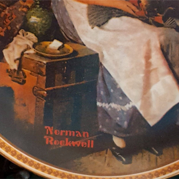 "Norman Rockwell Collector Plate, ""Dreaming In The Attic""  c. 1982"
