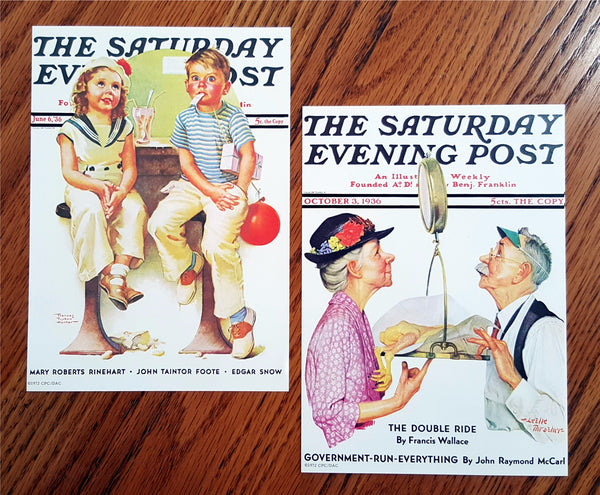 Saturday Evening Post Lithograph Prints, Set of 2 - 2aEmporium