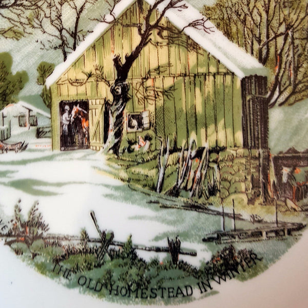 "Currier & Ives Collector Plate, ""The Old Homestead in Winter"""