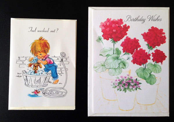 Vintage Greeting Cards, Set of 6