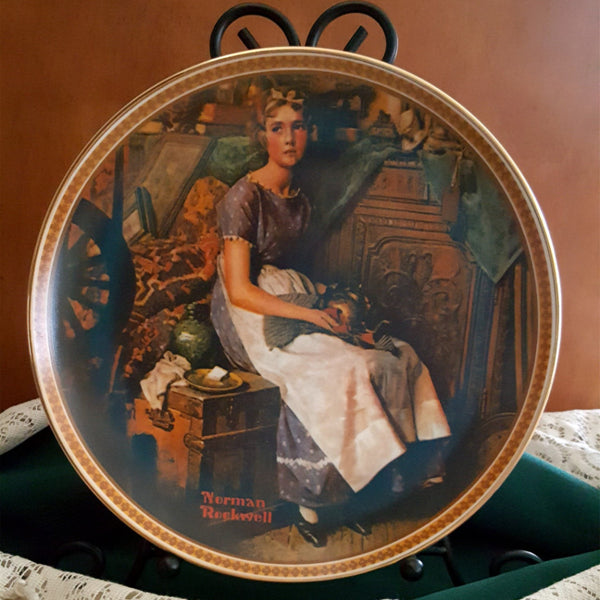 "Norman Rockwell Collector Plate, ""Dreaming In The Attic""  c. 1982 - 2aEmporium"