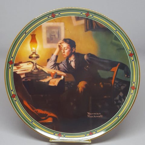 Norman Rockwell Collectible Plate, A Young Man's Dream, Vintage Collectible Plate, Edwin M Knowles, Gift idea - 2aEmporium