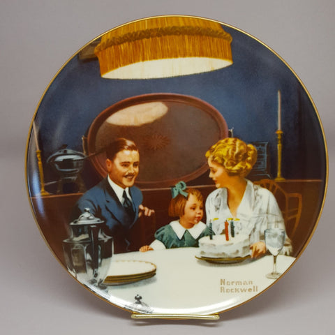 Norman Rockwell Collectible Plate, The Birthday Wish, Vintage Collectible Plate, Fine China, Edwin M Knowles, Gift Idea - 2aEmporium