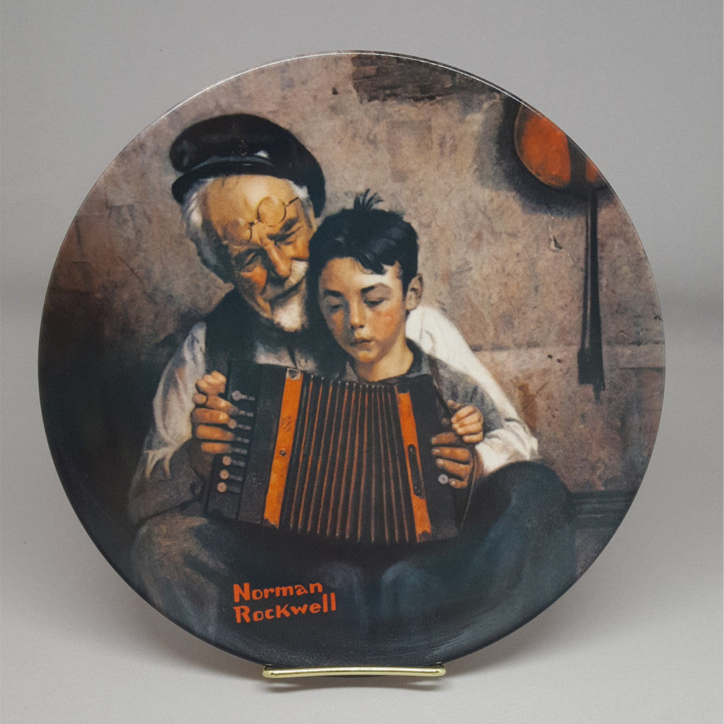 "Norman Rockwell Collectible Plate, ""The Music Maker""  c. 1981 - 2aEmporium"