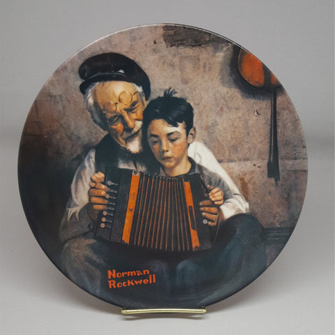 Norman Rockwell Collectible Plate, The Music Maker, Vintage Collectible Plate, Fine China, Edwin M Knowles, Gift Idea - 2aEmporium